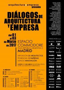 Cartel Diálogos de arquitectura